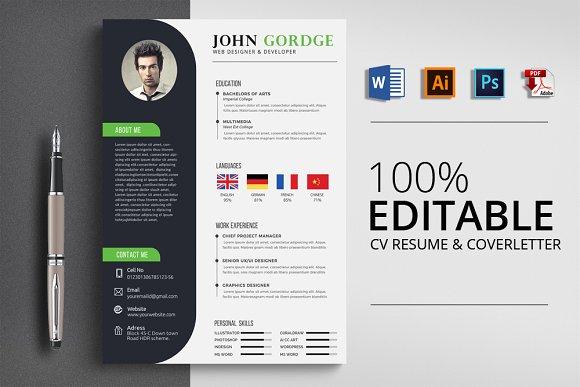 Minimalist CV Resume Word