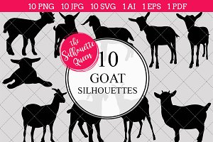 Goat Silhouette Clipart Vector