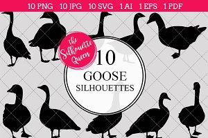 Goose Silhouette Clipart Vector