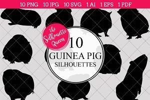 Guinea Pig Pet Silhouette Clipart