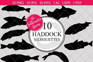 Haddock Fish Silhouette Clipart