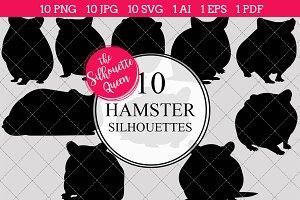 Hamster Silhouette Clipart Vector