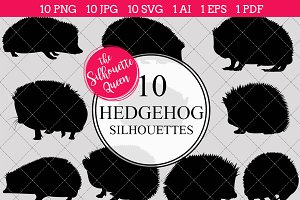 Hedgehog Silhouette Clipart Vector