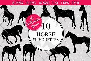 Horse Silhouette Clipart  Vector