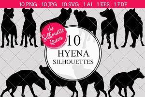 Hyena Silhouette Clipart Vector