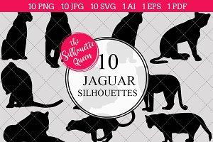 Jaguar Silhouette Clipart Vector