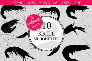 Krill Silhouette Clipart Vector