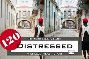 Distressed: 120 Texture MEGA Pack
