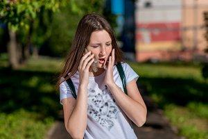 Girl schoolgirl teenager, summer