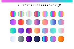 Trendy soft color gradients
