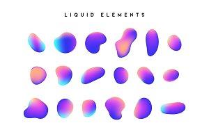 Gradient iridescent shapes.
