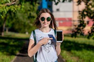Beautiful teenage girl, summer