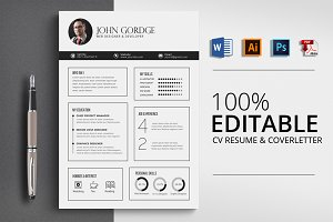 Clean Professional CV Word Templet
