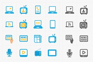Vector Media Icons set