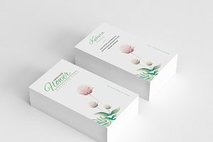 Clean Floral Business Card