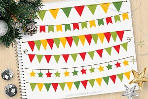 Christmas Bunting - Vector Clipart