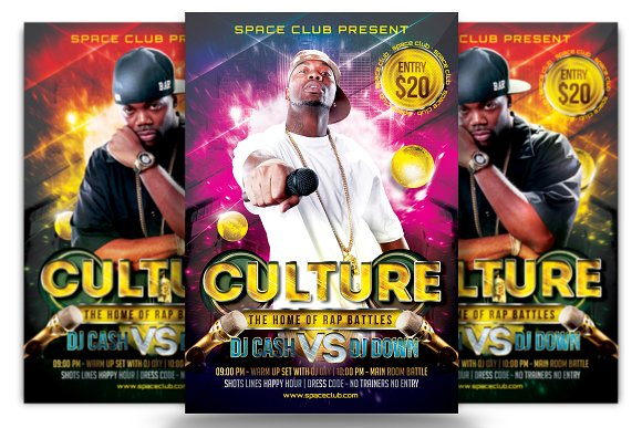 rap battle flyer template flyer templates creative market
