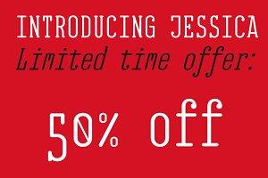 EB Jessica Font Family -50 %