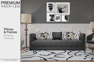 Pillows & Frames Set - Glam Style