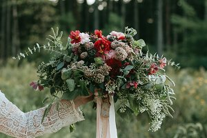 Pine Forest and Messy Bouquet