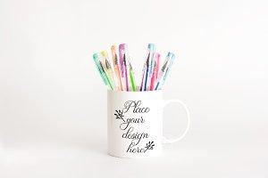 Back to school mug mockup september