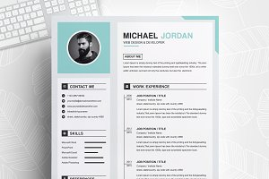 One Page Clean Resume + Cover Letter