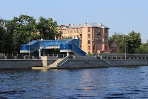 Big Neva river embankment road