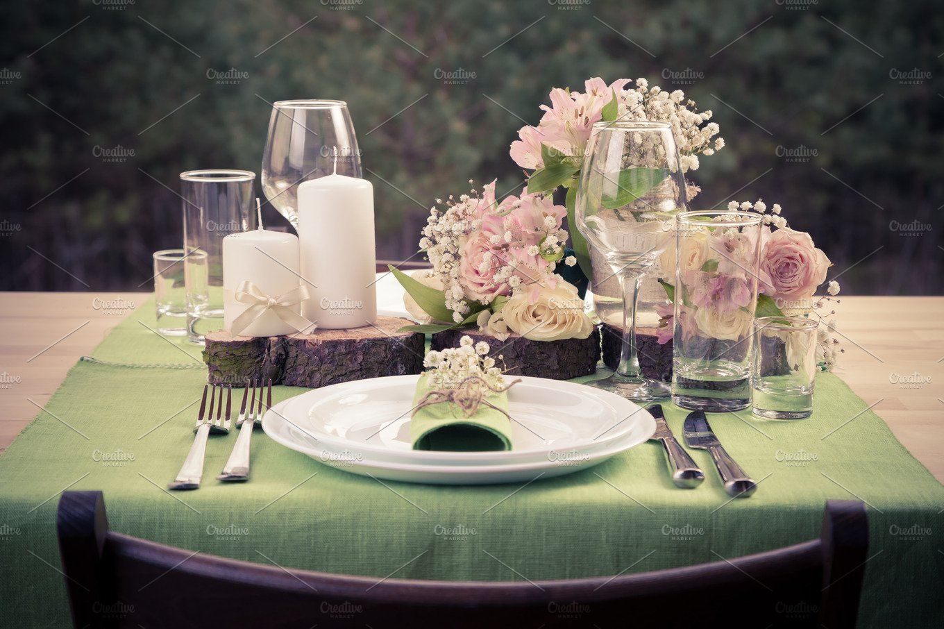 Wedding table in rustic style arts entertainment for Beauty table style css