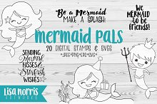 Mermaid Pals Digital Stamps and SVGs