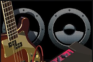 Musical equipment illustrations
