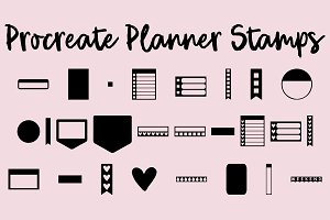Procreate Planner Sticker Stamps