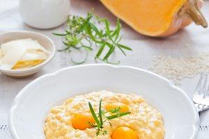 Pumpkin creamy risotto
