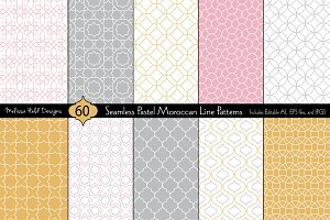 Seamless Pastel Moroccan Patterns
