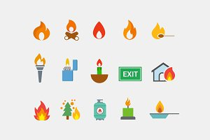 15 Fire and Flame Icons