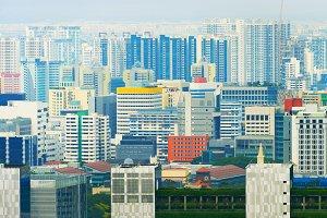 density city skyline Singapore