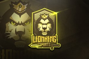Lion King - Mascot & Esport Logo