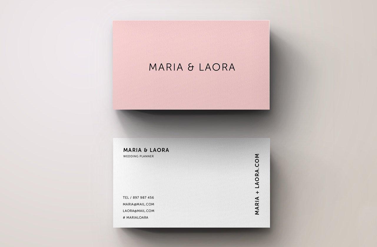 pink modern business card template  business card
