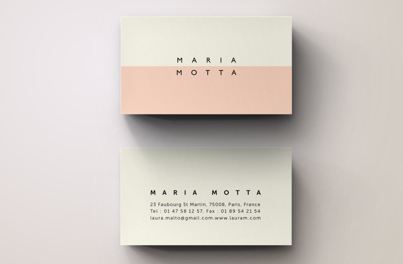 Pink Modern Business Card Template ~ Business Card Templates ...