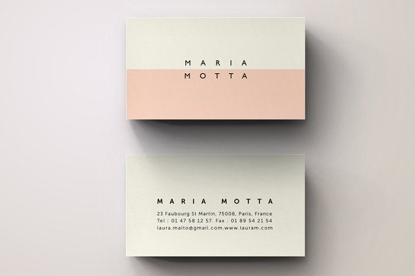 Pink Modern Business Card Template