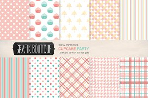 Cupcake polkadot papers