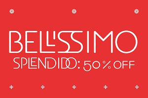 EB Bellissimo Display Fonts 50 %
