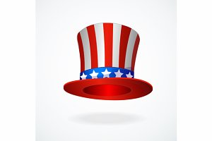 Uncle Sam's hat vector.
