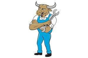 Bull Mechanic Spanner Standing Carto