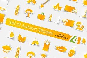 74 autumn stickers