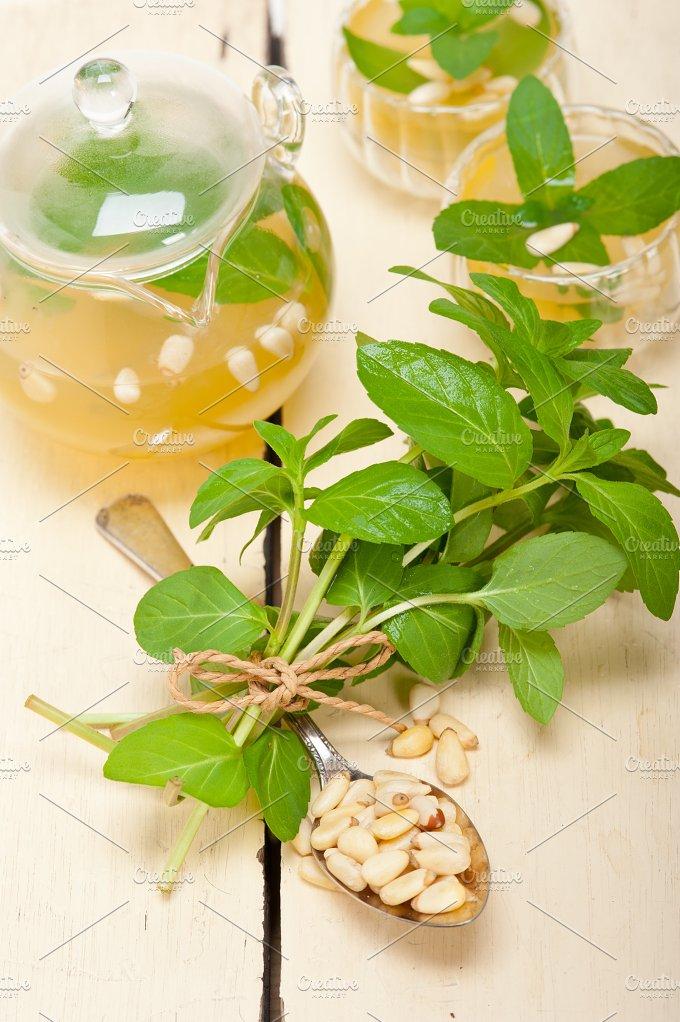 Arab Moroccan middle east mint tea and pine nuts 038.jpg - Food & Drink