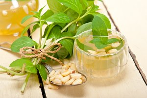 Arab middle east mint tea and pine nuts 003.jpg