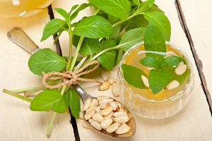 Arab middle east mint tea and pine nuts 005.jpg