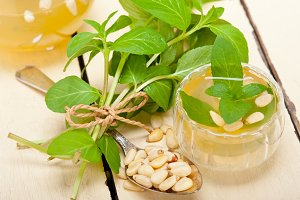 Arab middle east mint tea and pine nuts 004.jpg