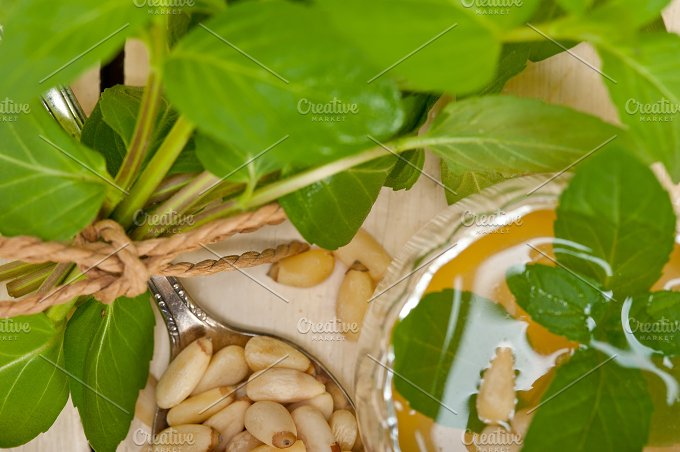 Arab middle east mint tea and pine nuts 010.jpg - Food & Drink