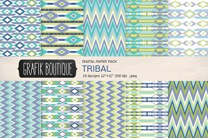 Tribal aztec pattern mint